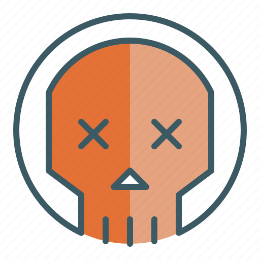 circle, dead, death, skeleton, skull icon