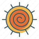 meditation, sign, spiral, sun, yoga icon