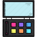 cosmetics, eye, eyeshadow, eyeshadows, kit, makeup, shades icon