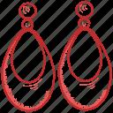 ear, earrings, fashion, girl, jewelry, shopping, woman icon