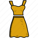 dots, dress, fashion, girl, summer, woman icon