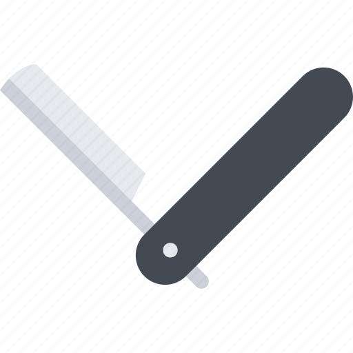 barbershop, beauty, care product, razor, spa, straight icon
