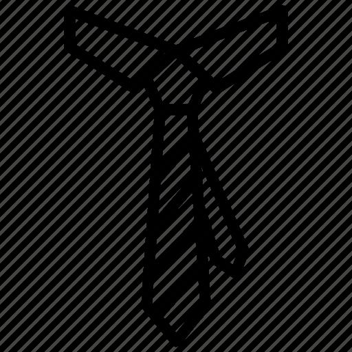 fashion, fashion necktie, necktie, neckwear, tie, uniform tie icon