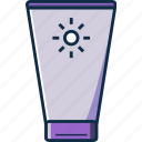 beauty, cream, lotion, sunblock, sunscreen icon