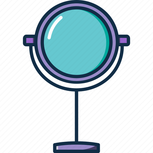 face, glass, hand, mirror, tool icon