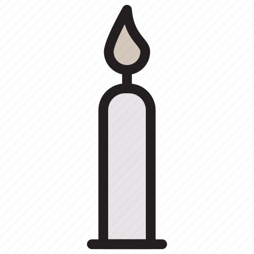 candle, flame, lamp, light icon