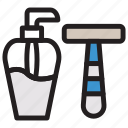 barber, razor, salon, shave icon