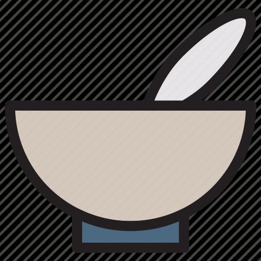 bowl, facial, mixing, spa icon