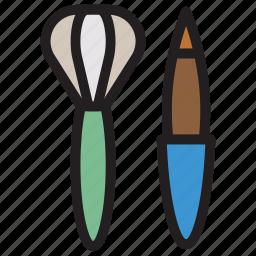 brush, cosmetic, eyeliner, makeup icon