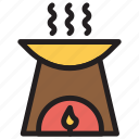 burner, fire, kitchenstove, spa icon
