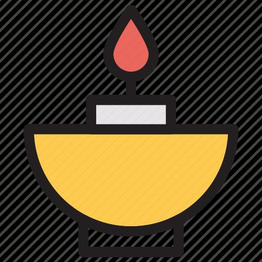 candle, decoration, lamp, light icon