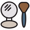beauty, brush, cosmetic, mirror icon