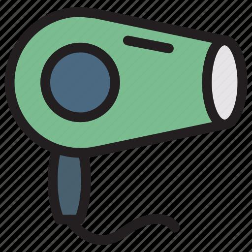 blower, dryer, hair, salon icon