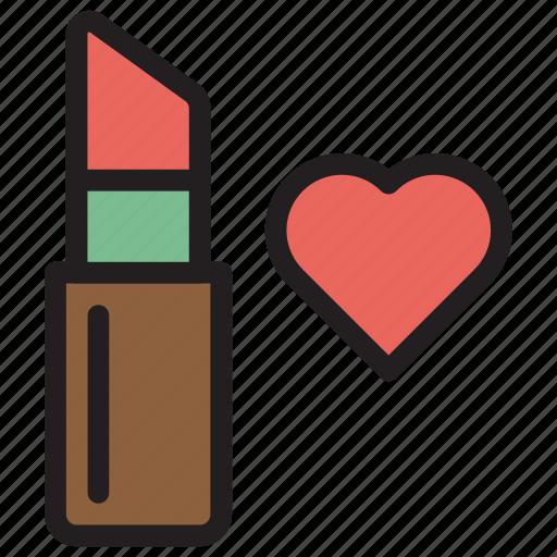 beauty, cosemtic, lipstick, makeup icon