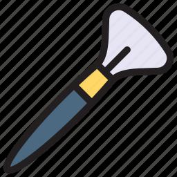 brush, cosmetics, makeup, spa icon