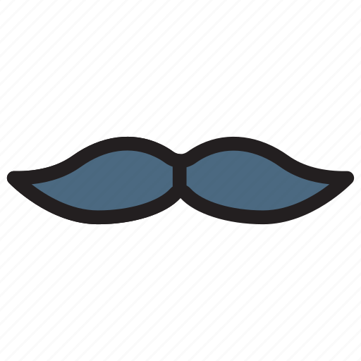 fasion, man, monocle, moustache icon