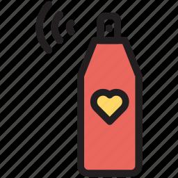 bottle, cosmetics, perfume, spray icon