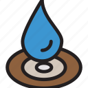 aqua, drop, droplet, water icon