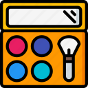 beauty, cosmetics, makeup, pallet icon