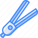 beauty, cosmetic, hair, hair product, straighteners icon