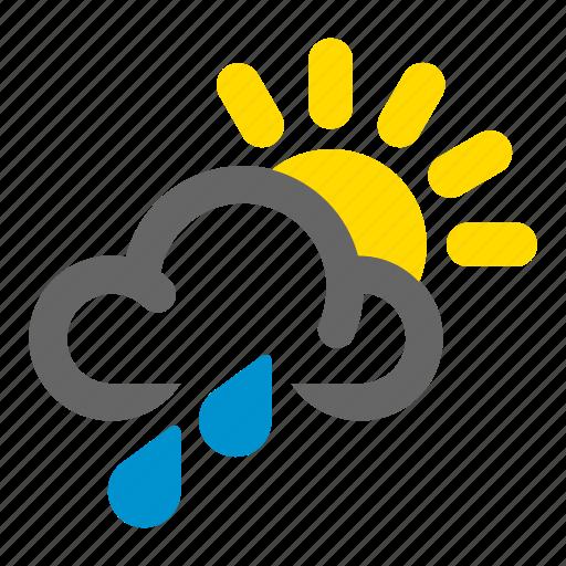 Mixed, rain, sun, weather icon