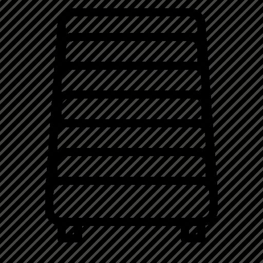 air mattress, bedroom, line, mattress icon