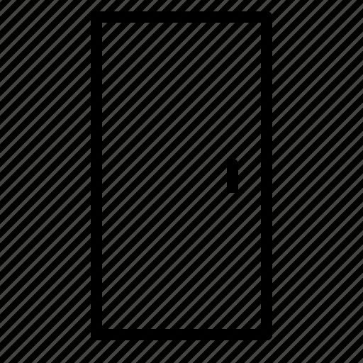 Bedroom Door Line Icon