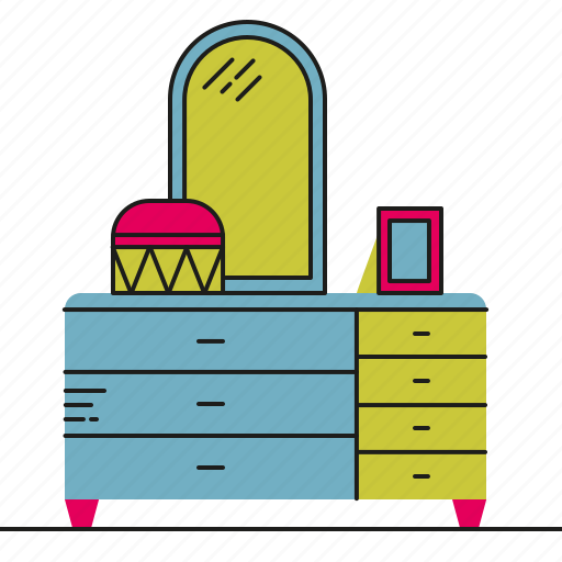 bedroom, chest, clothes, drawer, storage icon