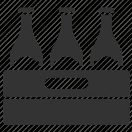alcohol, beer, beverage, bottles, dozen, drink, liquor icon
