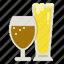 beer, beverage, drink, glasses icon