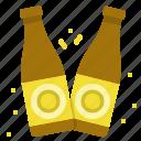beer, bottles, celebration, cheers, salud icon