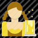 beer, celebration, festival, oktoberfest, woman icon