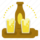 beer, drink, paddle, set icon