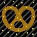 bake, eat, pretzel, snack icon
