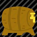barrel, beer, tank, wooden icon