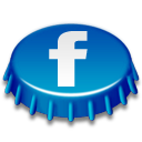 beer cap, facebook icon