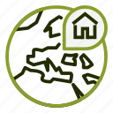 address, house, location, map, property icon