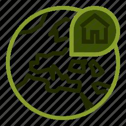 address, house, location, map, property icon