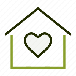 apartment, bookmark, favourite, heart, home, property icon