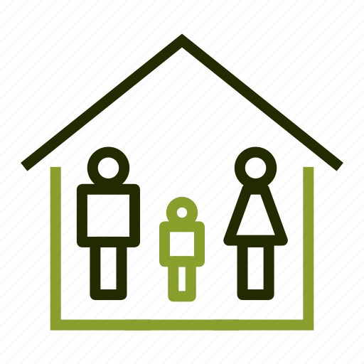 apartment, family, home, property, roof icon