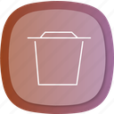checkmark, done, dustbin, full, spam, throw, trash icon