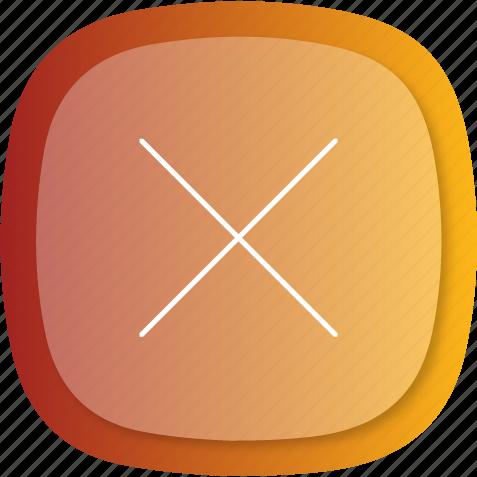cancel, cross, exit, remote, remove, trash icon