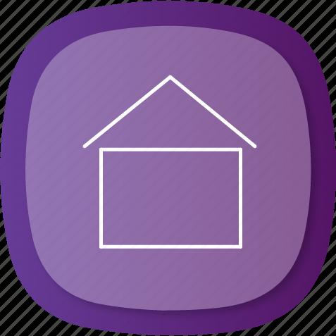 align, apartment, arrows, center, home, homemenu, right icon