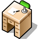beos, desk, desktop, workspace icon