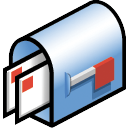 mail box with cards icon