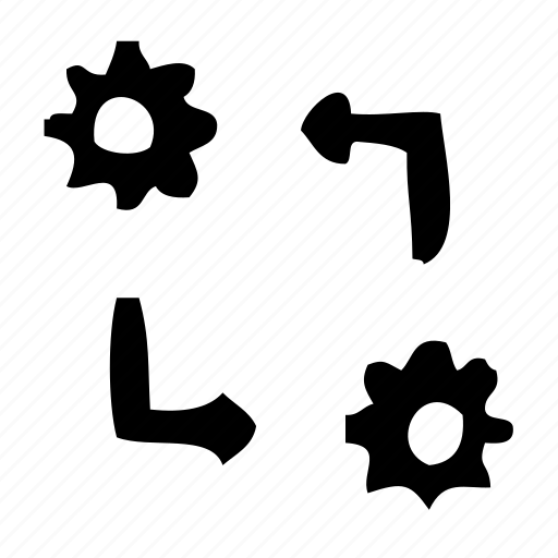 causality, gear, process, progress, settings, wheel icon