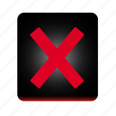 cancel, close, cross, delete, exit, no, remove, stop icon
