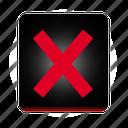 cancel, close, cross, delete, exit, no, remove, stop icon