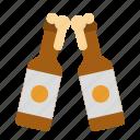 alcohol, bar, beer, bottle, toast