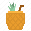 alcohol, cocktail, drinks, juice, pineapple icon